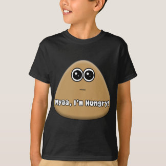 Hungry Pou w/ Text T-Shirt