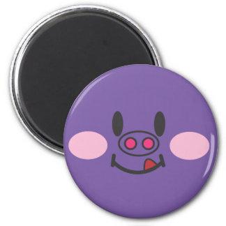 Hungry Purple Refrigerator Magnet