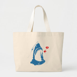 Hungry Shark Large Tote Bag