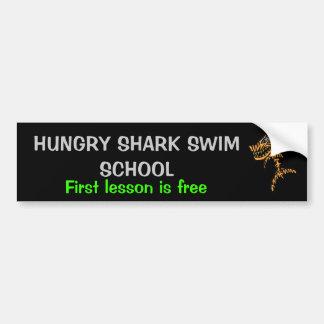 Hungry Shark Swim school Bumper Sticker
