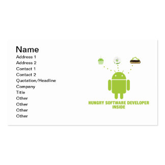 Hungry Software Developer Inside (Android) Business Card Templates