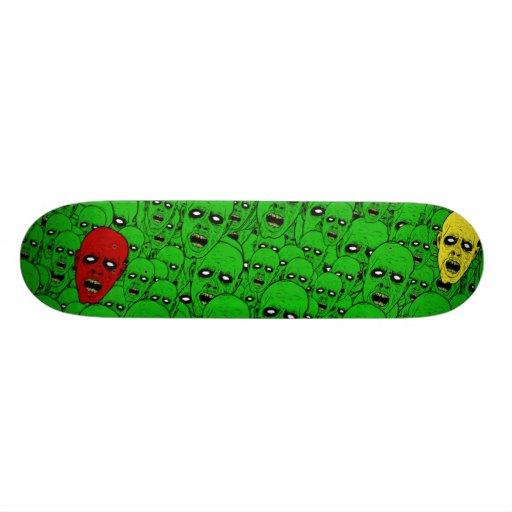 Hungry Undead Zombie Heads Custom Skateboard