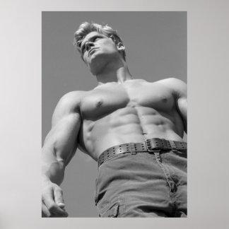 Hunk Fitness Model & Bodybuilder Poster