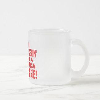 Hunka Cheese Frosted Glass Mug
