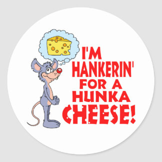 Hunka Cheese Round Sticker