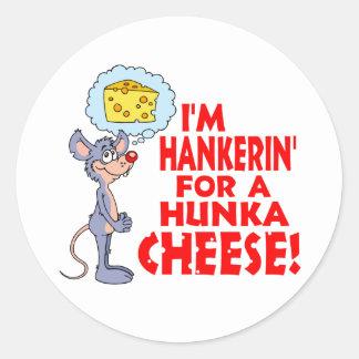 Hunka Cheese Classic Round Sticker