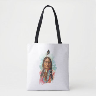 Hunkpapa Sioux Chief: Sitting Bull Tote Bag