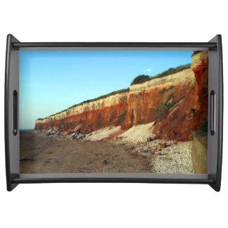 Hunstanton cliff design serving tray