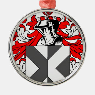 Hunt Coat of Arms Silver-Colored Round Decoration