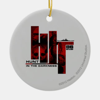 Hunt in the Darkness Round Ceramic Decoration