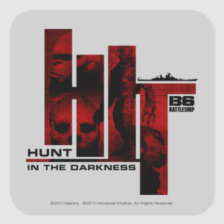Hunt in the Darkness Square Sticker