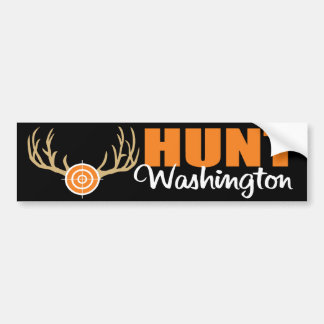 Hunt Washington Bumper Sticker