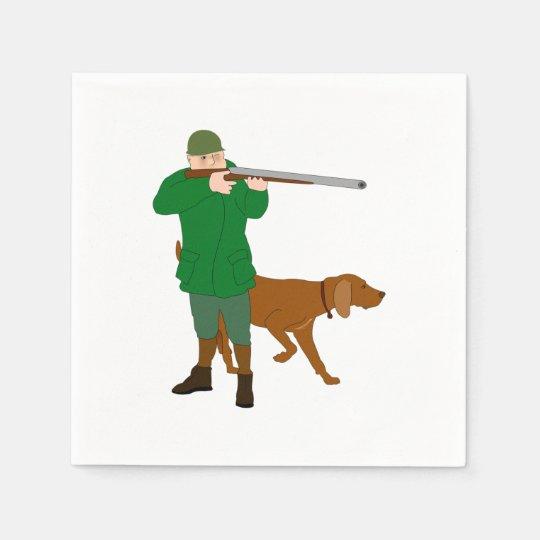 Hunter And A Dog Paper Napkins