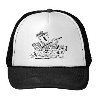 Hunter and Dog Cartoon Mesh Hats