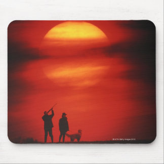 Hunter and Dog Mouse Pad