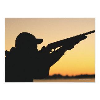 Hunter and Gun 13 Cm X 18 Cm Invitation Card