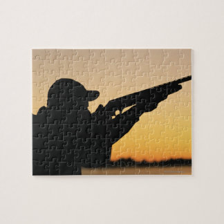 Hunter and Gun Jigsaw Puzzle