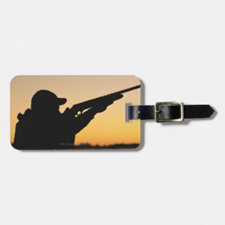 Hunter and Gun Luggage Tag