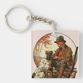 Hunter and Spaniel Key Ring
