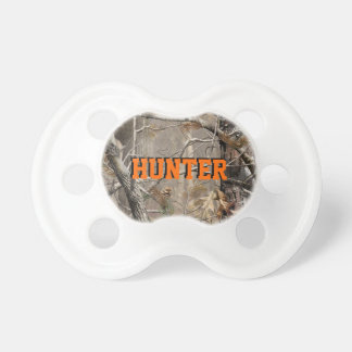 HUNTER Camo Baby Pacifier w/ Personalized Name