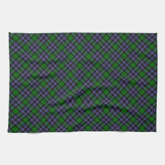 Hunter Clan Tartan Designed Print Tea Towel