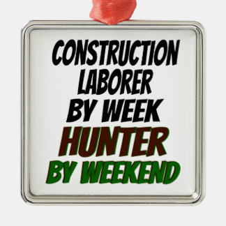 Hunter Construction Laborer Christmas Ornament