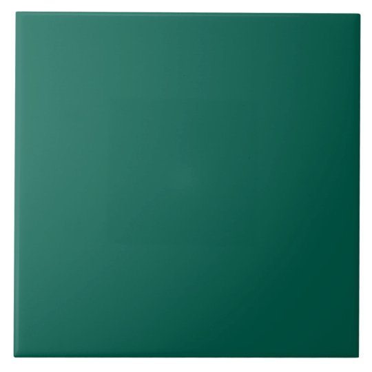Hunter Forest Green Personalised Colour Background Tile