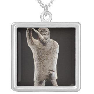 Hunter, from Cape Dorset Square Pendant Necklace