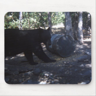 Hunter Game Cam Caught a Black Bear Mousepad