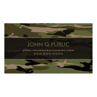 Hunter Green Camo Pattern Pack Of Standard Business Cards