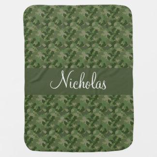 Hunter Green Camouflage Baby Blanket