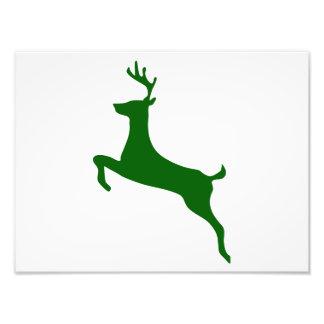 Hunter Green Deer Silhouette Photo Art