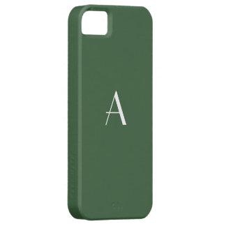 Hunter Green Monogram iPhone 5 Case