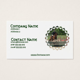 Hunter Horse Jumping Business Card