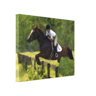 Hunter-Jumper Afield Canvas Print