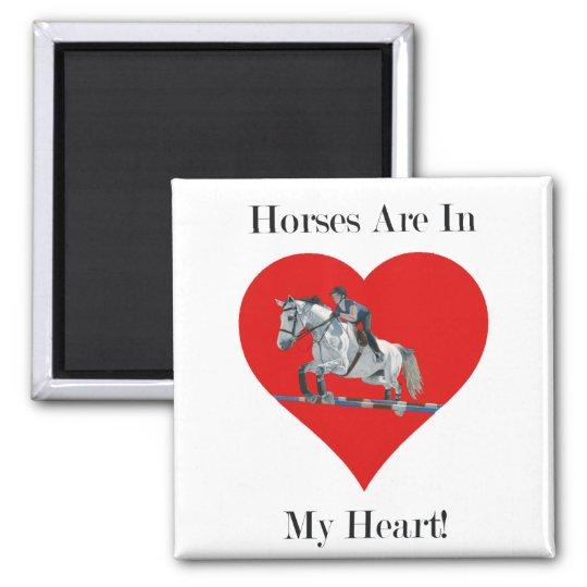 Hunter/Jumper Horse in Heart Magnet