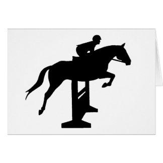 Hunter Jumper Horse Rider Greeting Card