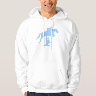 Hunter Jumper Horse & Rider (light blue) Hoodie