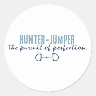 Hunter Jumper Horse Round Stickers