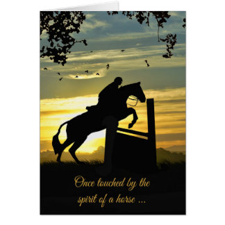 Hunter Jumper Horse Sympathy Card