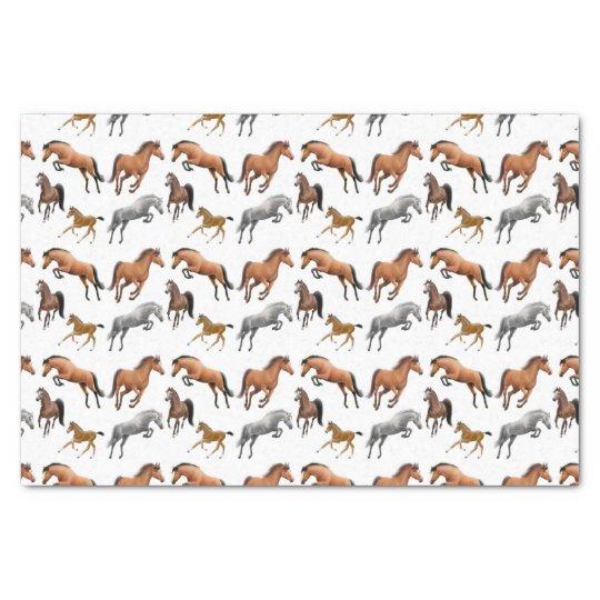Hunter Jumper Horses Tissue Paper