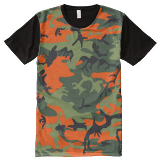 hunter orange camo All-Over print T-Shirt