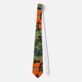 Hunter Orange Camo Tie