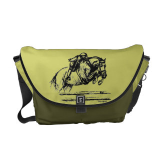 Hunter Over Fences Jumping Horse Commuter Bags
