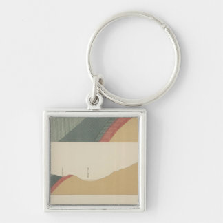 Hunter Park Special Sheet Silver-Colored Square Key Ring