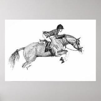 Hunter Pony Pointillism Poster