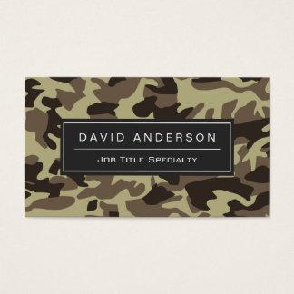 Hunter Stylish Military Camouflage Camo Pattern Business Card