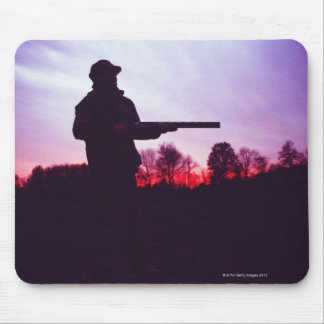 Hunter with Gun Mouse Mat