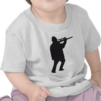 hunter with gun T-Shirts