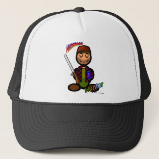 Hunter (with logos) trucker hat
